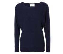 Cashmere-Pullover mit ovalem Ausschnitt Dunkelblau