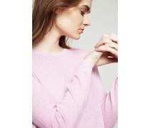 Pullover mit Glitzerfaden-Detail Rosé