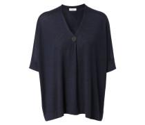 Oversize Cashmere-Seiden-Pullover Dunkelblau