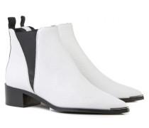Spitze Boots 'Jensen' Weiß