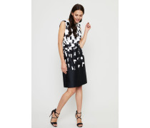 GemustertesCocktail-Kleid Black/White