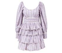 Minikleid 'Astor' mit Rüschen Violett/