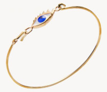 Armband 'Gold/Silber' Auge Gold/Blau