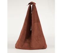 Tasche mit Knoten-Details 'Bindle Bag' Braun
