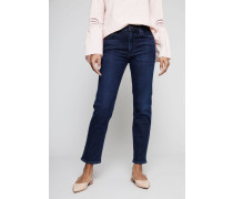 High Rise Cigarette Ankle Jeans 'Cara' Indigo