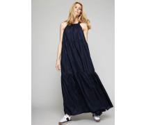 Abendkleid aus Seide Marineblau