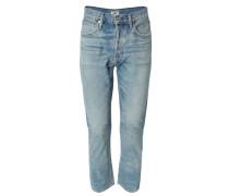 Jeans 'Dree High Rise Slim Straight' Hellblau