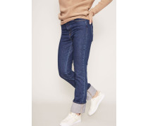 Straight Leg Jeans Dunkelblau
