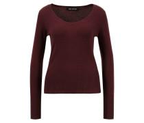 Cashmere-Pullover 'Kate' mit tiefem Ausschnitt Bordeaux