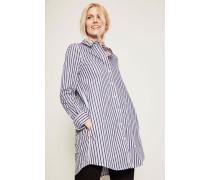 Gestreiftes Blusenkleid 'Carmine Dress' Weiß/Blau