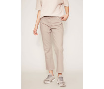Gerade 7/8-Jeans Taupe