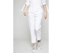 Baumwoll-Leinen-Hose Weiß