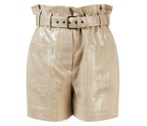Leinen-Shorts mit verstellbarem Gürtel