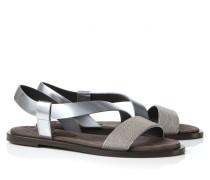 Verzierte Sandale Silber