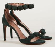 Sandalette mit Nieten-Verzierung Grün