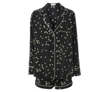 Pyjama-Set 'Lilian' mit Sternen Dunkelblau