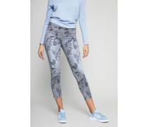Jeans mit Alloverprint 'Liu Short' Blau