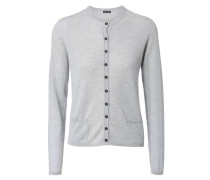 Cashmere Cardigan 'Louise' Silber
