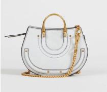 Umhängetasche 'Pixie Mini' Airy Grey mit Goldelementen