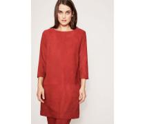 Velourleder-Kleid 'Rina Dress' Rot