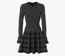 Ausgestelltes Kleid Schwarz/Weiß