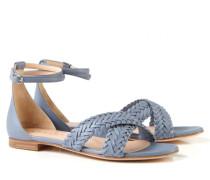 Leder-Sandale 'Donna' Graublau
