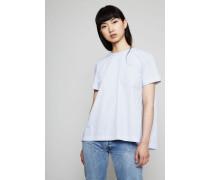 T-Shirt mit Zipper-Detail Light Blue