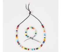 Perlenset 'FORTE Beads' mit Armband und Kette Blau/Schwarz