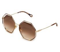 Sonnenbrille 'Poppy' Braun/Gold
