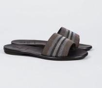 Verzierte Sandale Silber/Braun