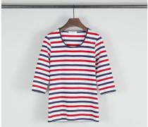 Gestreiftes kurzarm Shirt Rot/Weiss