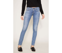 Skinny Jeans 'Racer Low Rise' Blau