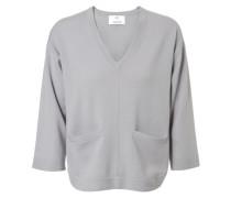 Cashmere-Pullover mit Taschen Steel