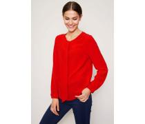 Bluse mit Bindeelement Rot