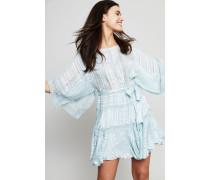 Kurzes Seiden-Kleid 'Whitewave Veil' Seafoam