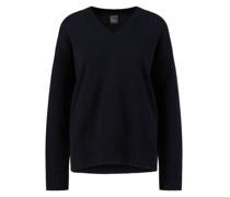 Cashmere-Pullover mit V-Ausschnitt Marineblau