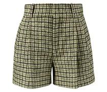 Lammwolle-Seiden-Shorts Grün
