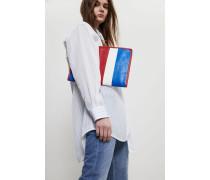 Clutch 'Bazar Pouche' Blau/Weiß/Rot