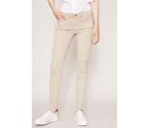 Slim Illusion Jeans 'The Skinny' Distressed Beige