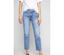 Jeans 'Le High Straight' Mittelblau