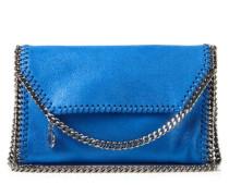 MIni-Fold-Over-Schultertasche 'Folded 3 Chain Crossbody' Blau