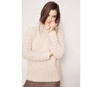 Grobstrick-Cashmere-Pullover 'Ricarda' Natur/Rosé