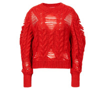 Alpaka-Woll Pullover mit Rundhalsausschnitt