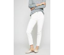 High Rise Cigarette Ankle Jeans 'Cara' Crème