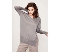 Cashmere-Seiden-Pullover Grau