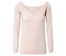 Cashmere-V-Neck-Pullover Rosé