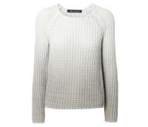 Grobstrick-Pullover 'Jamie' mit Farbverlauf Weiß/Grau