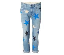 Cropped-Jeans mit Sternen Blau/Multi