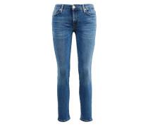 Jeans 'Pyper Crop' Mittelblau