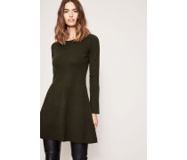 Wolle-Cashmere-Kleid Oliv